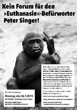 Heftige Kritik an geplanten Auftritt des Euthanasie-Agitators Peter Singer in Berlin